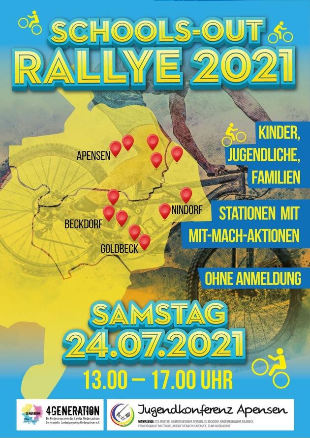 """Read more about the article POL-STD: """"Schools-Out Rallye"""" 2021 in und um Apensen – Polizei und Verkehrswacht mit dabei"""